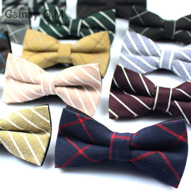 Newest Cotton Men's Bow Tie Brand Classic Plaid Ties Bowtie Leisure Business Shirts Bowknot Bow Ties Cravats Accessories