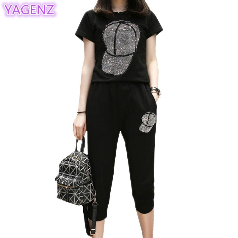 Plus size Two Piece Set Women Tracksuit