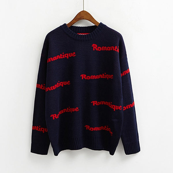 Women Sweater Korean Style Somi Same Style Befree casaco feminino chaqueta mujer Letters Fashion Jumper Pullover Sweaters
