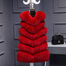 Load image into Gallery viewer, UPPIN Winter Warm Vest New Arrival Fashion Women Import Coat Fur Vest High-Grade Faux Fur Coat Fox Fur Long Vest Plus Size S-3XL