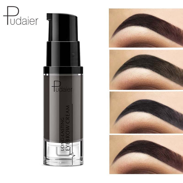 Pudaier Long-lasting Eyebrow Cream Natural Liuqid Eyebrow Gel Tattoo Makeup Eye Brow Tint Brows Pigment Black Eyebrow Enhancer