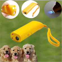 Load image into Gallery viewer, Pet Dog Repeller Anti Bark Dog Training Device 3 in 1 LED Ultrasonic Dog Stop Barking Trainer Without Battery