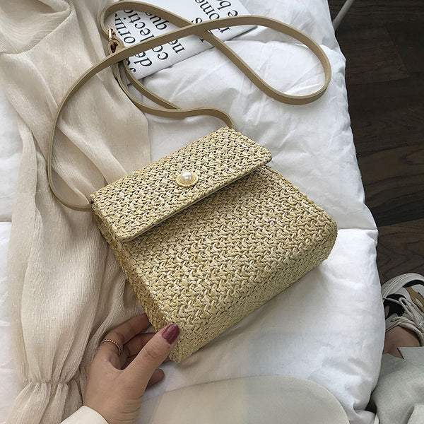 Weaving Crossbody Bags For Women 2019 Summer Beach Bag Ladies Shoulder Messenger Hand Bag Female Travel Hand Bag Dropshipping