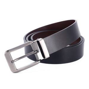 Double-sided use fashion mens pin buckle belt