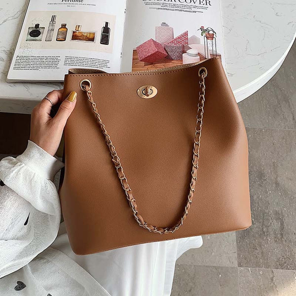 High Capacity PU Leather Crossbody Bags For Women 2019 Chain Messenger Shoulder Bag Female Handbags Solid Color Hand Bag
