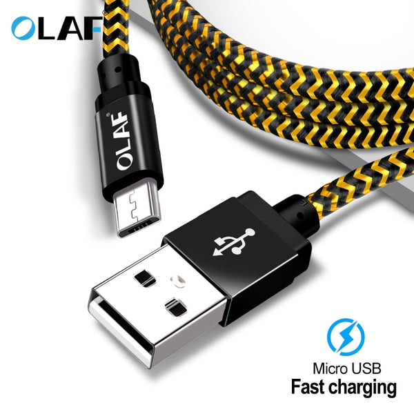 OLAF Micro USB Cable 1m 2m 3m Fast Charge USB Data Cable for Samsung S6 S7 Xiaomi 4X LG Tablet Android Mobile Phone USB Charging