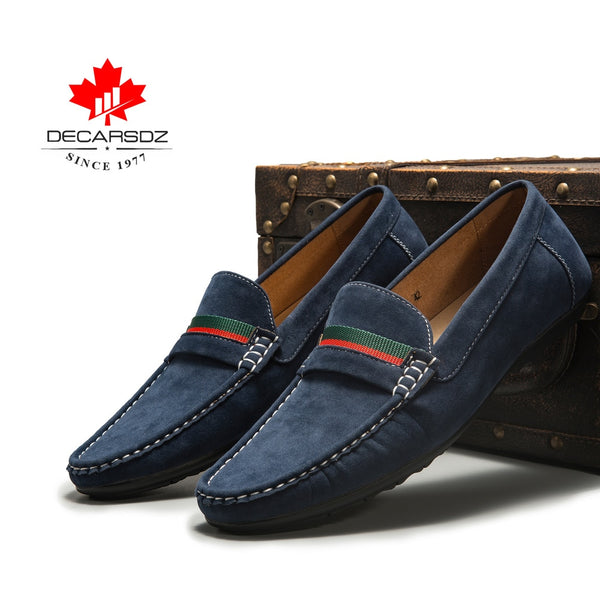 Men Loafers shoes 2020 Spring Fashion Moccasins Footwear Suede Slip-On Brand Men's Shoes Men Leisure Walking Men's Casual Shoes