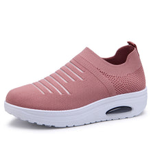Load image into Gallery viewer, Women Flats Stretch Fabric Vulcanized Shoes sneaker shoes Mesh Breathable Female Platform Ladies Casual Knitted Shoes woman