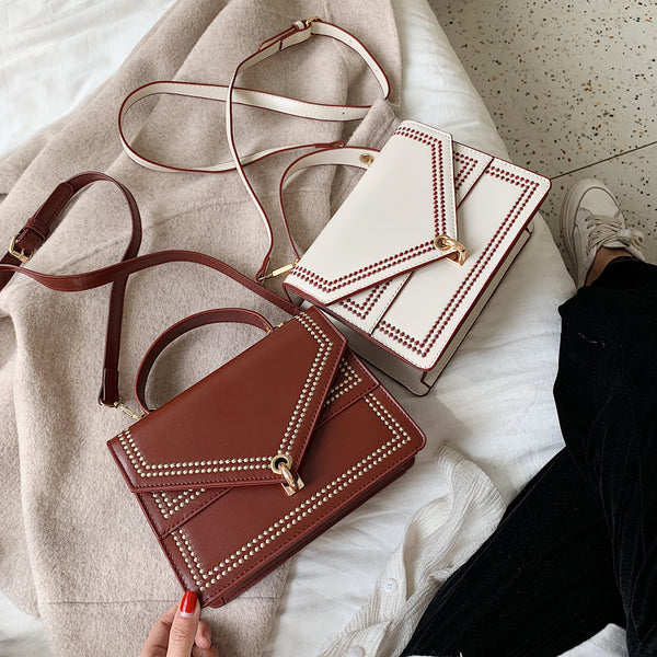 Small PU Leather Crossbody Bags For Women 2019 Embroidery Designer Shoulder Messenger Bag Female Travel Handbags