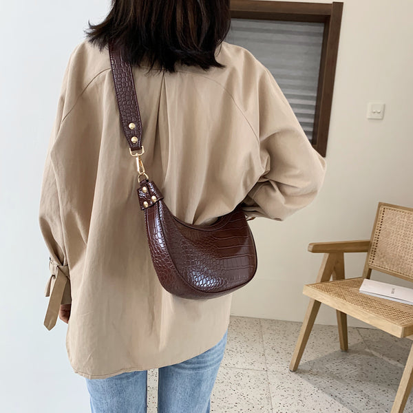 Stone Pattern Retro PU Leather Crossbody Bags For Women 2020 Small Shoulder Messenger Bag Lady Phone Handbags and Purses