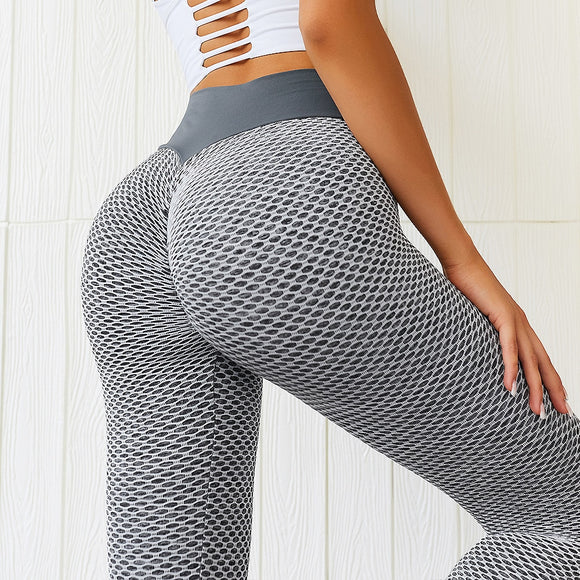 Chrleisure Mesh Push Up Fitness Leggings Women Sexy Sports High Waist Leggin