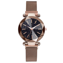 Load image into Gallery viewer, Luxury Starry Sky Stainless Steel Mesh Bracelet Watches For Women Crystal Analog Quartz Wristwatches Ladies Sports Dress Clock