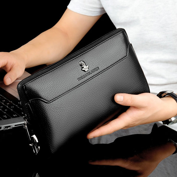 Men's Anti-theft Business Handbag  Coded Lock Day Clutch Male Big Capacity Long Wallet Phone Case Cards Holder