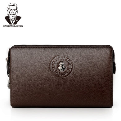 Men's Coded Lock Day Clutch Anti-theft Business Handbag Male Big Capacity Zipper Long Wallet Phone Case Cards Holder
