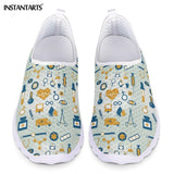New Cartoon Nurse Doctor Print Women Sneakers Slip On