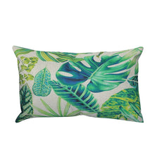 Load image into Gallery viewer, Linen Pillowcase Tropical Plant Flowers And Plants Peacock Feather Figure Long Pillow Cushion Cover