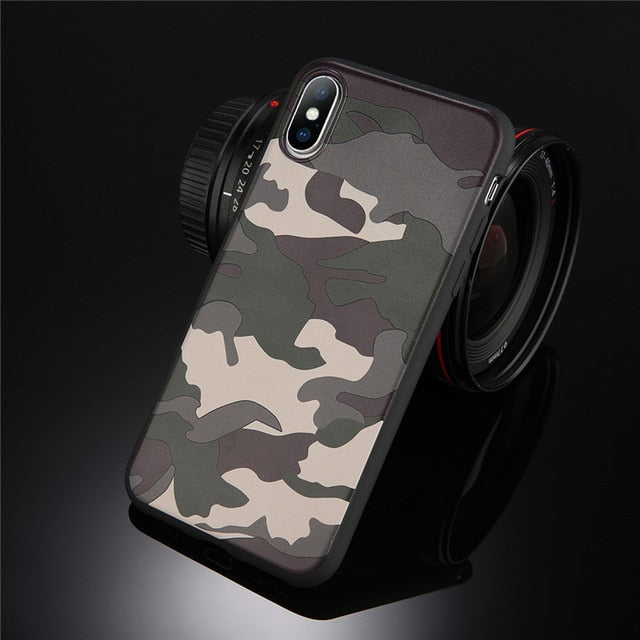 Lovebay Army Green Camouflage Case For iPhone