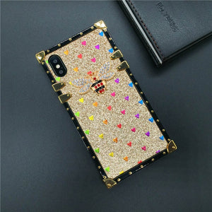 Heart Bee Cover Square Case for Samsung Galaxy