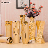 Luxury Europe Gold-plated Ceramic Vase