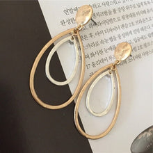 Load image into Gallery viewer, Modern Girl Decoration Gold Color Hammered Teardrop Earrings For Women