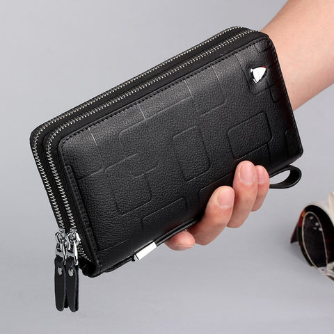 New Genuine Leather Multifunctional Long Wallet Cow Leather