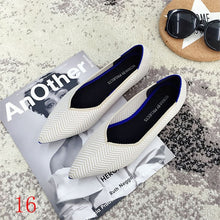 Load image into Gallery viewer, New Women's Casual flats bailarinas luxury Brand Shallow Mouth Pointed Ballet Female Boat Shoes wool Knitted Maternity loafers