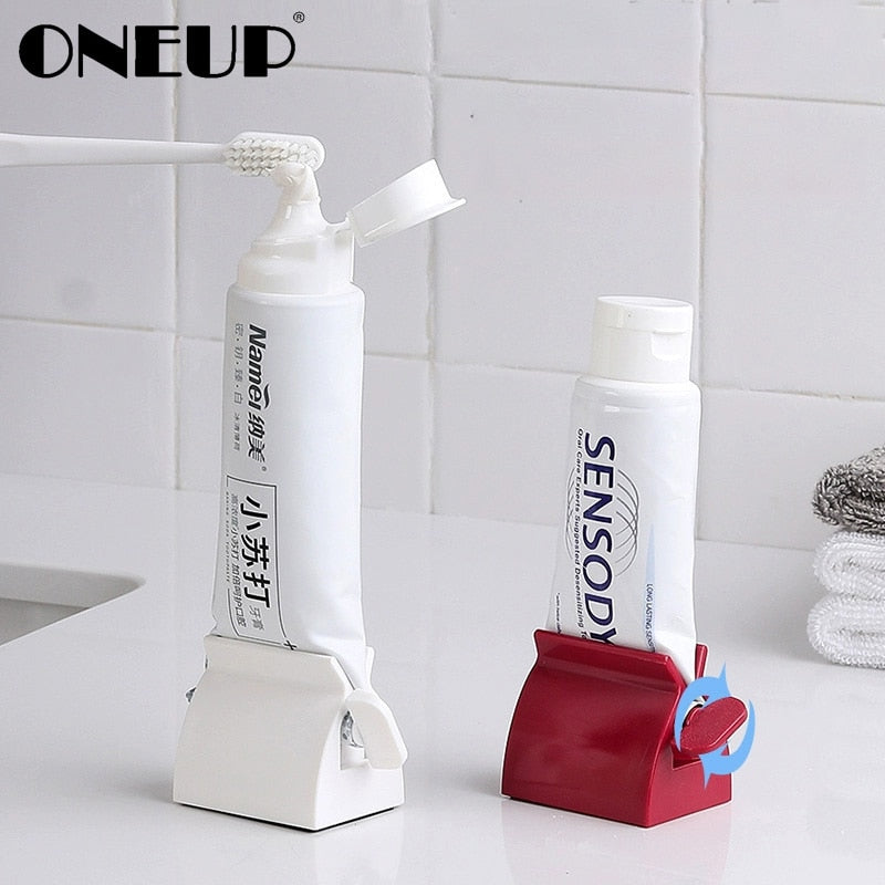 ONEUP Multifunctional Toothpaste Tube Press Squeezer Plastic Toothpaste Dispenser