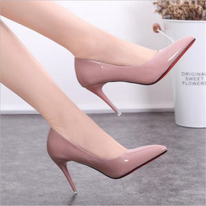 Leather High Heels Shoes