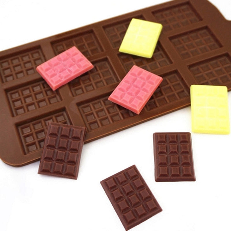 Silicone Mold 12 Even Chocolate Mold Fondant Molds DIY Candy Bar Mould Cake Decoration Tools