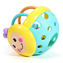Load image into Gallery viewer, Soft Rubber Juguetes Bebe Cartoon Bee Hand Knocking Rattle Dumbbell