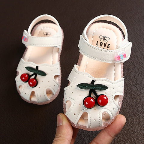 Summer Sandals for Girls Cherry Closed Toe