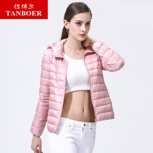TANBOER Women Down Coats Short Down Jackets Winter Coats Keep Warm
