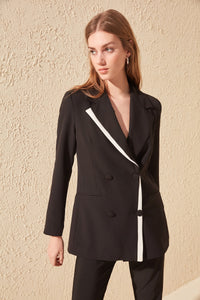 Trendyol Black With Color Block Jacket TWOAW20CE0231