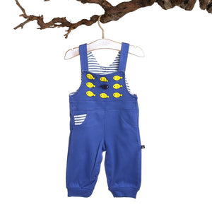 For My Baby Boy Fish Dungarees