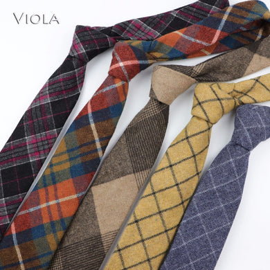 New Colorful Plaid 50%Wool Necktie 7cm Classic Handkerchief Tie Set Men casual Tuxedo Party Accessory Business Gift High Quality