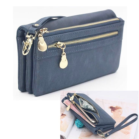 Universal Multifunction Women Wallet PU Leather