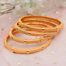Load image into Gallery viewer, Luxury Gold Color Jewelry Bangles Ethiopian African Women Dubai Bracelet