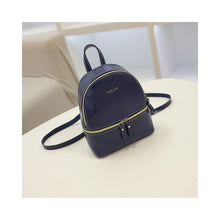 Load image into Gallery viewer, Woman Fashion Leisure Handbag Chic Backpack PU blue