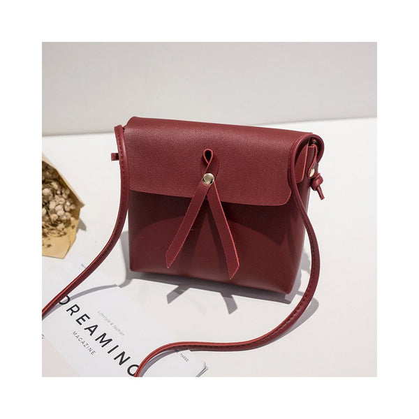 Women Single-shoulder Leisure Simple Retro Suqare Shape Bag Red wine