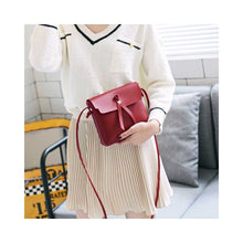 Load image into Gallery viewer, Women Single-shoulder Leisure Simple Retro Suqare Shape Bag Red wine