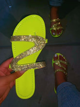 Load image into Gallery viewer, Women Summer Bling Slippers Sandals