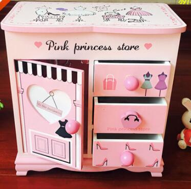 Hello Kitty lovely wooden jewelry box accessories