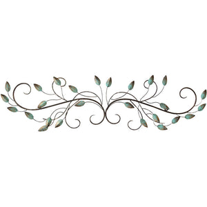 Stratton Home Decor Patina Scroll Leaf Metal Wall Décor