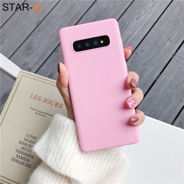 candy color silicone phone case for samsung