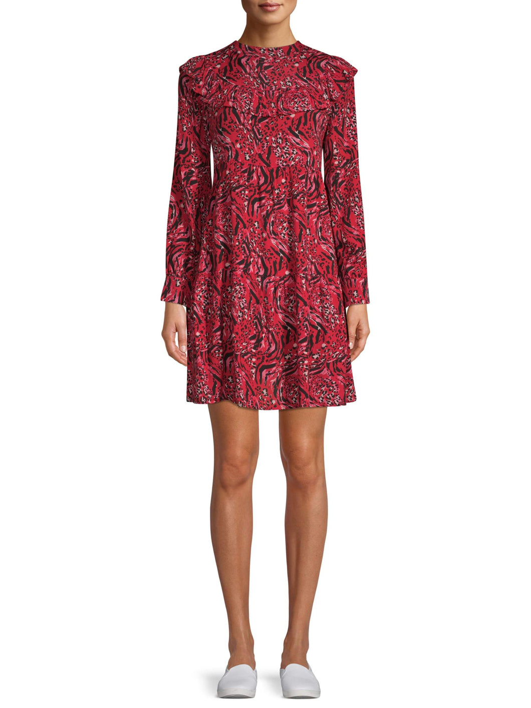 Time and Tru Tiered Ruffle Dress Women's