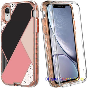 For Iphone 11 Case Luxury Marble 3in1 Heavy Duty Shockproof Full Body Protection Cover For Iphone XR XS Max Samsung Galaxy S20