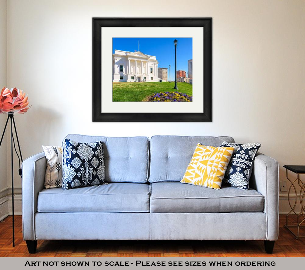 Framed Print, Capitol Building Virginistate Capitol In Richmond Virginius