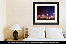 Load image into Gallery viewer, Framed Print, 4th Of July Fireworks Skyshow Charlotte Nc