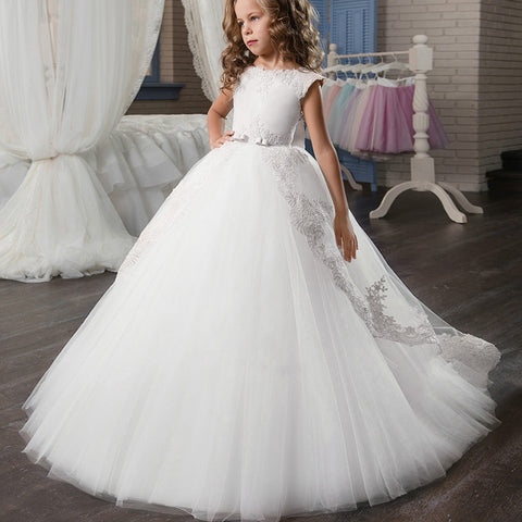 Children's wedding flower girl dress