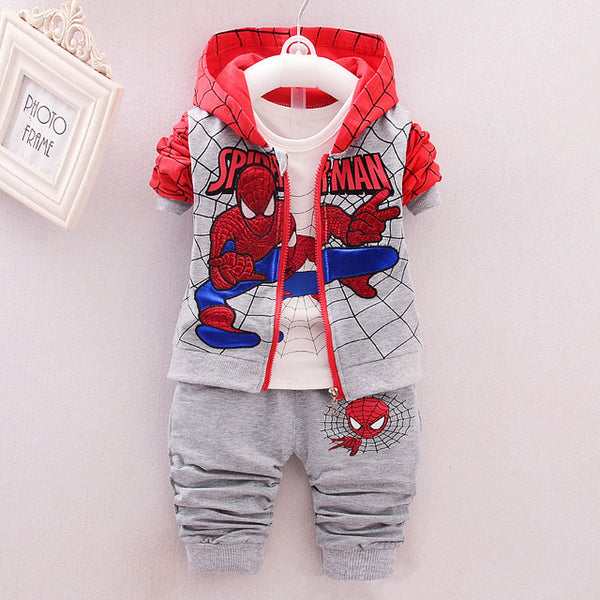 Children Spiderman Clothing 2020 Spring Autumn Toddler Boys Clothes 3 Pcs Sets Cosplay Costume Kids Clothes For Boys Sport Suit